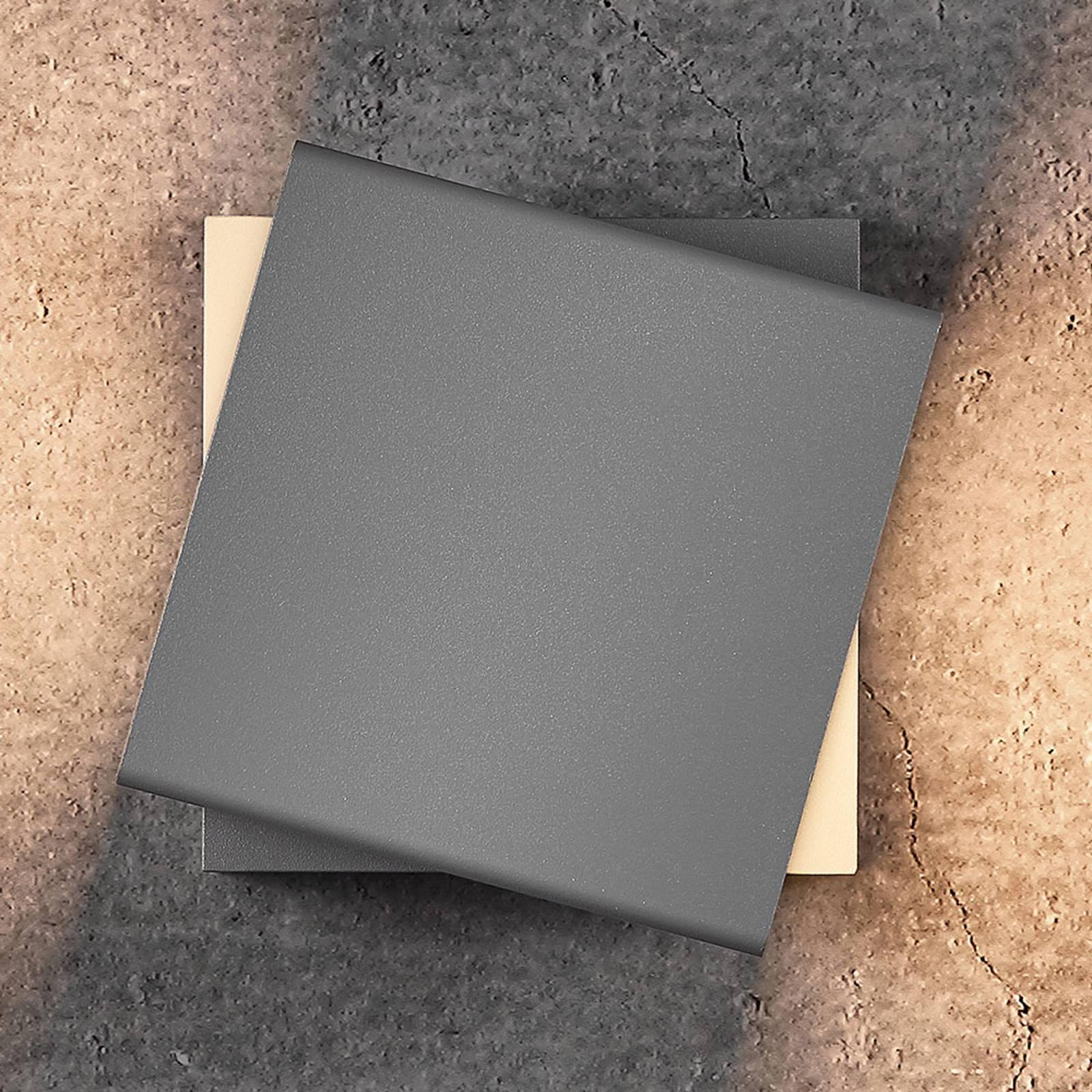 LED-ulkoseinälamppu Turn, himmennettävä, valkoinen