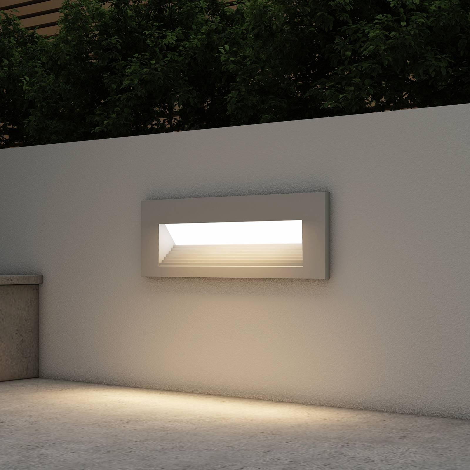 Arcchio Javis -LED-uppovalaisin, uurrettu, hopea
