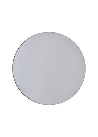 Speil til vegg Ø 50 cm Grå