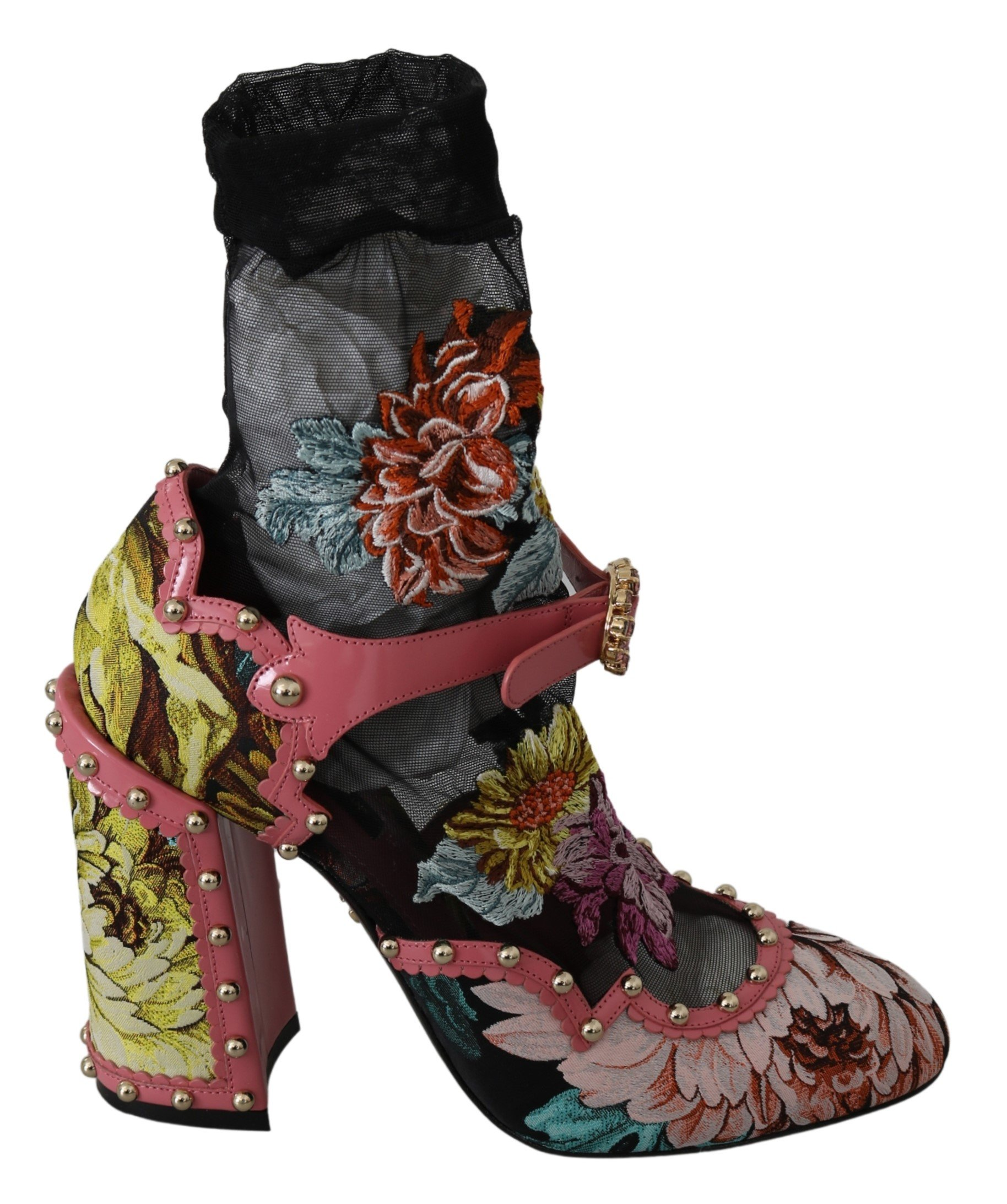 Dolce & Gabbana Women's Leather Crystal Pumps Multicolor LA7260 - EU39/US8.5