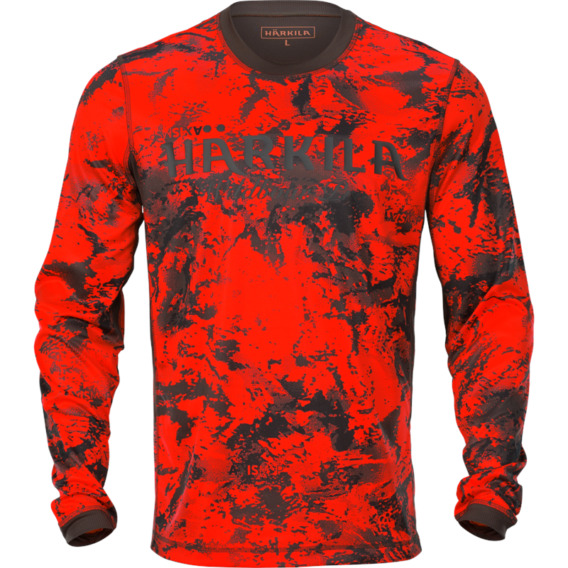 Härkila Wildboar Pro L/S t-shirt 3XL Orange Blaze/Shadow Brown