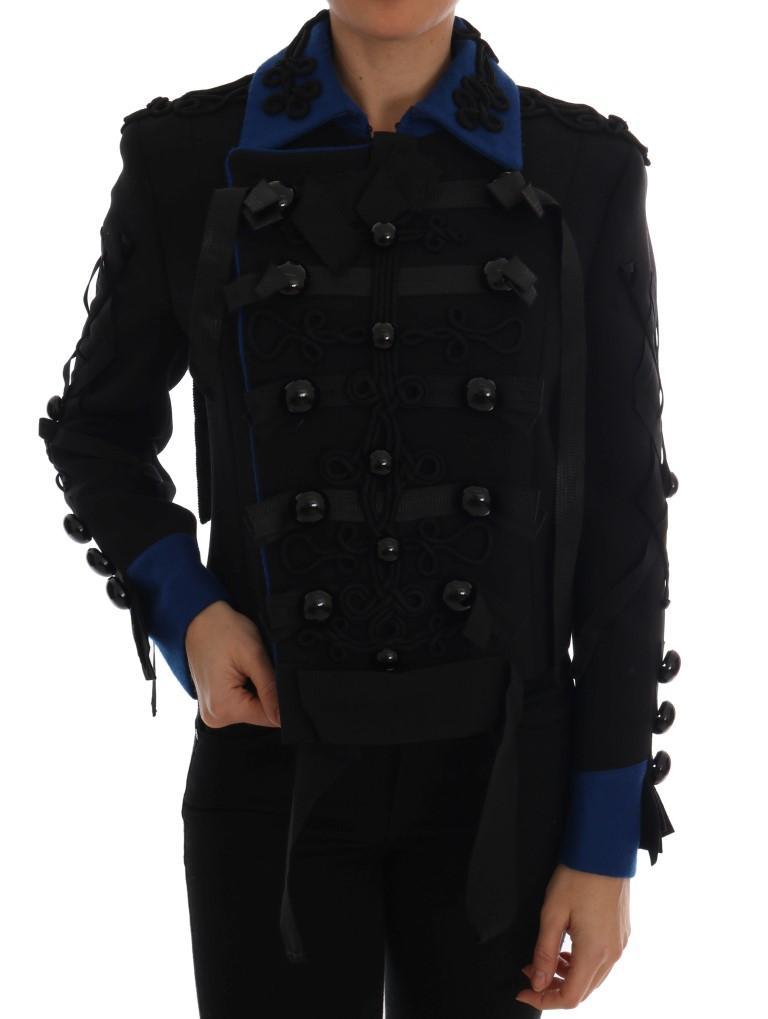 Dolce & Gabbana Women's Wool Trench Jacket Black JKT1116 - IT40|S