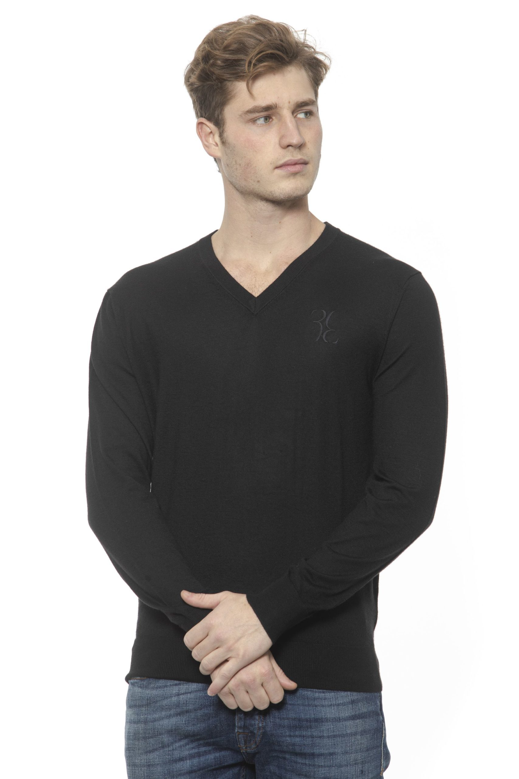 Billionaire Italian Couture Men's Nero Sweater Black BI1313532 - S