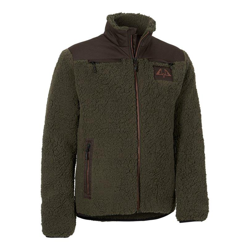 Swedteam Ultra Pile M Hunting green Sweater, Full Zip
