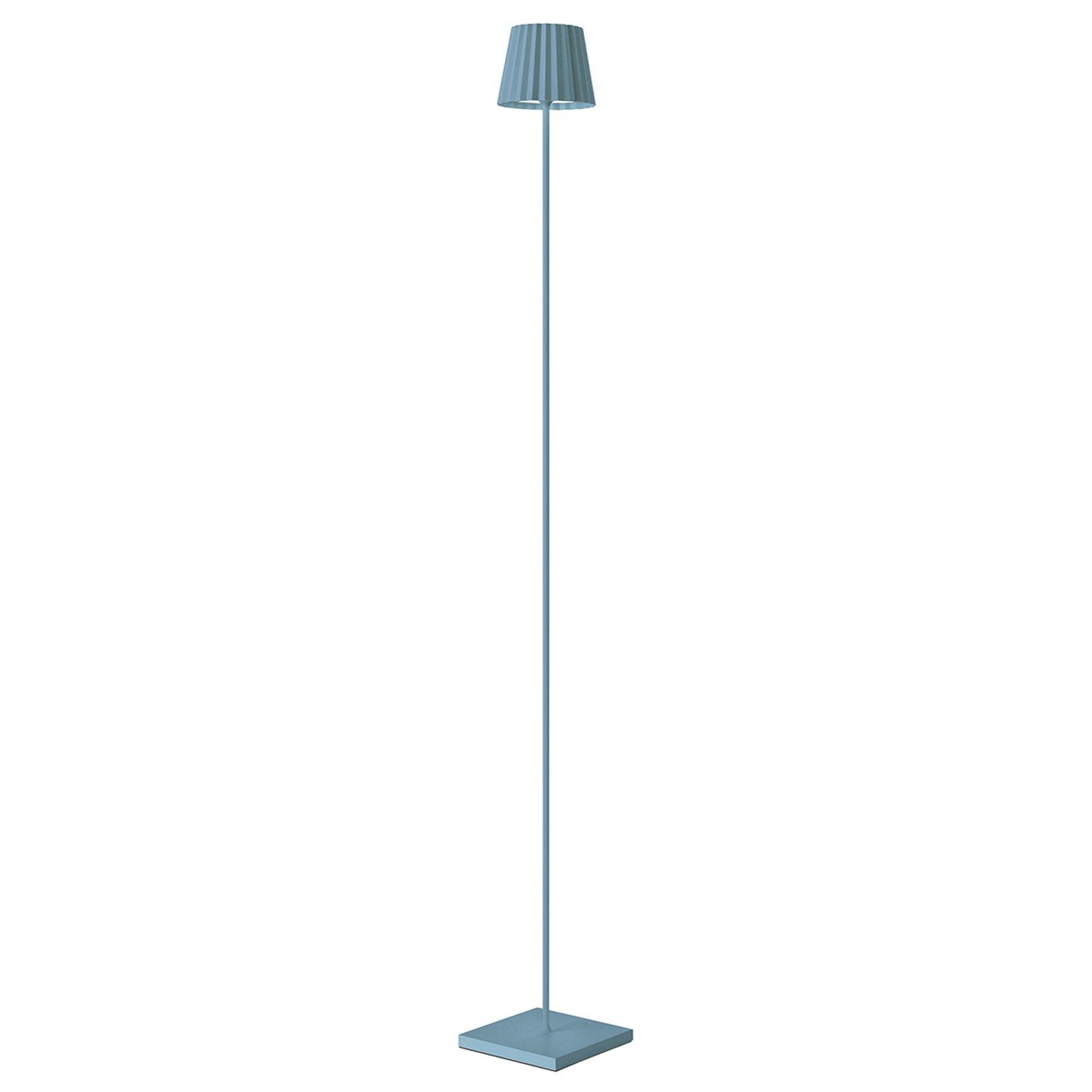 LED-gulvlampe Troll for utebruk, blå