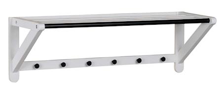 Methro hatthylla 80 vit/svart metall