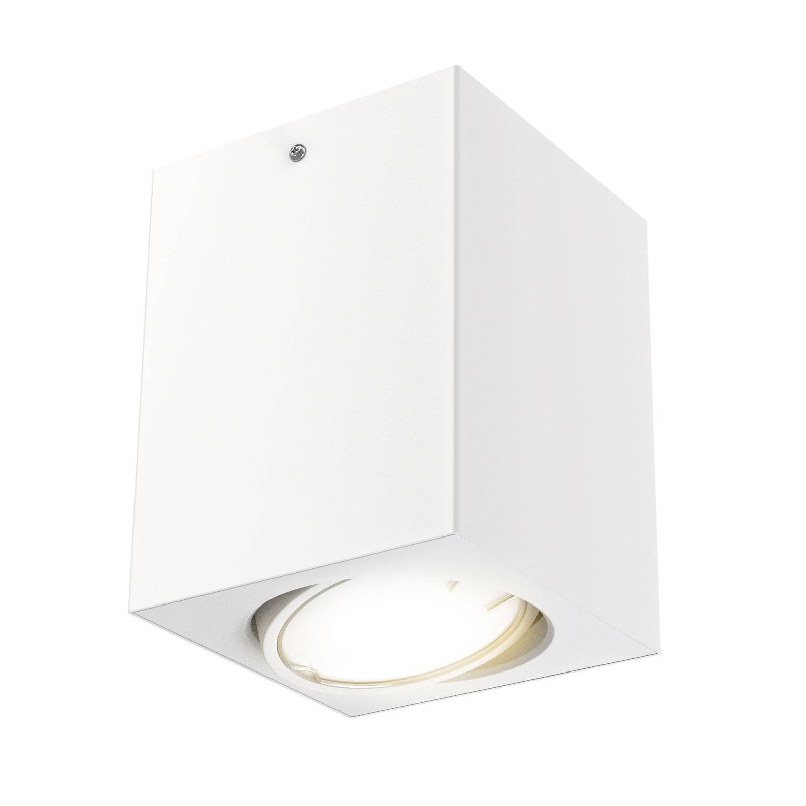 LED-taklampe 7120 med GU10-LED-pære, hvit