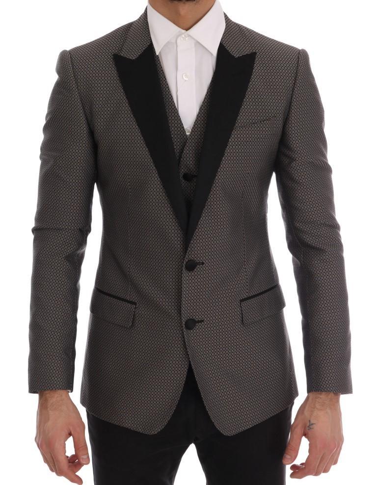 Dolce & Gabbana Men's Silk MARTINI Blazer Black KOS1167 - IT46 | S