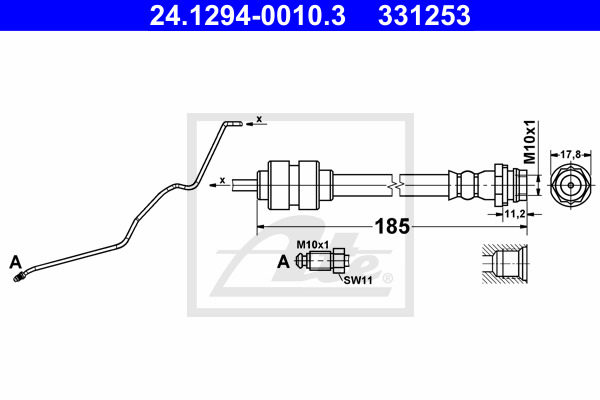 Jarruletku ATE 24.1294-0010.3