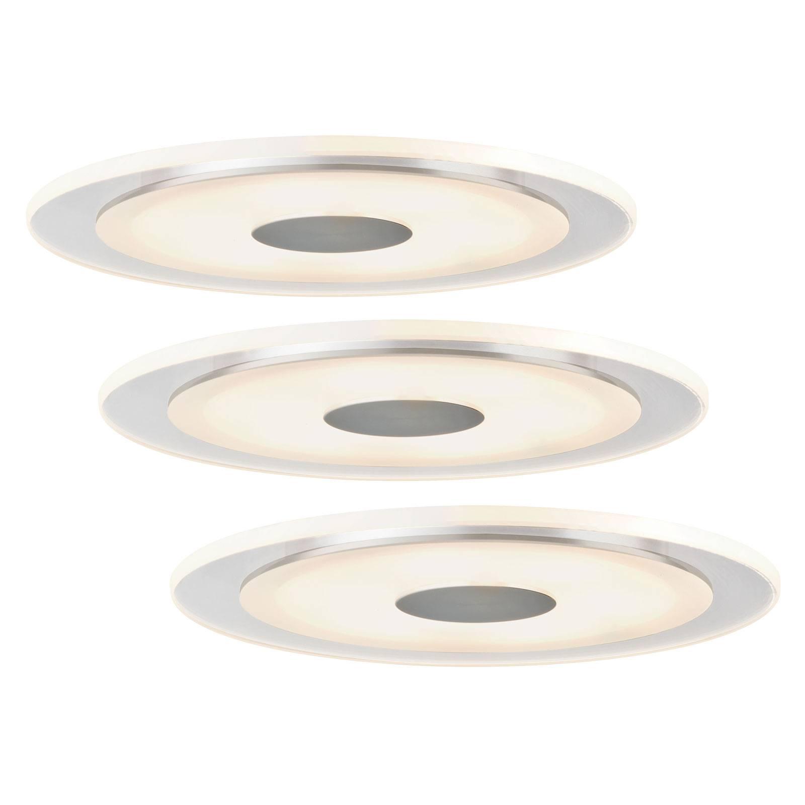 Pelkistetty Whirl-LED-uppovalaisin, 3 kpl:n setti
