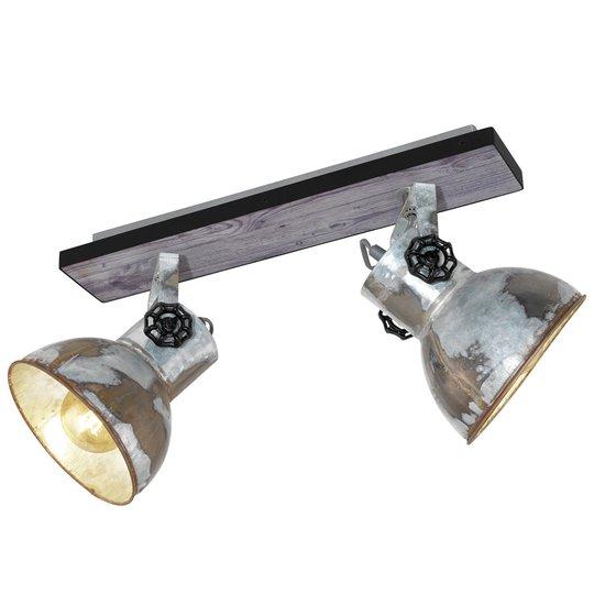Industrial-kattovalaisin Barnstaple 2-lamppuinen
