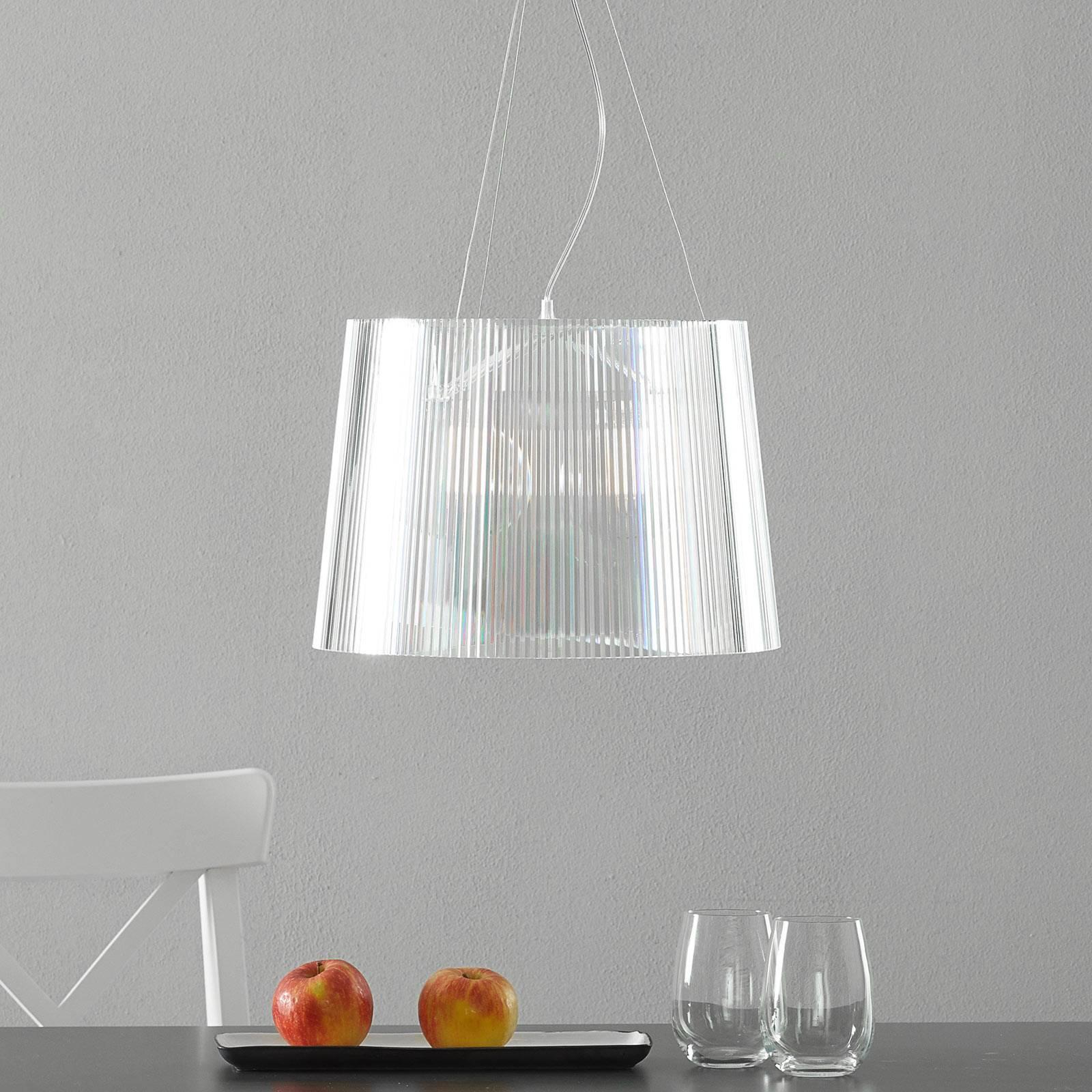 Kartell Gè -LED-riippuvalaisin, läpinäkyvä