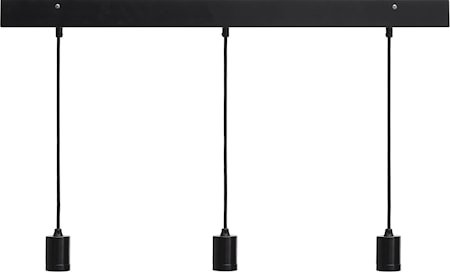 Line 3 ceiling light Rectang, black 80cm