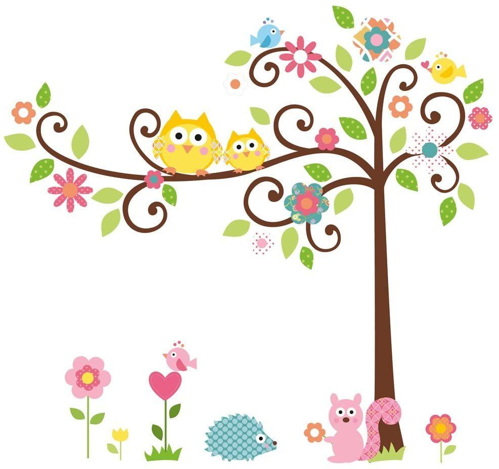 RoomMates Sisustustarrat Happi-Scroll Tree