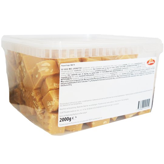 "Hel Låda Godis ""Peanut Fudge"" 2kg - 25% rabatt"