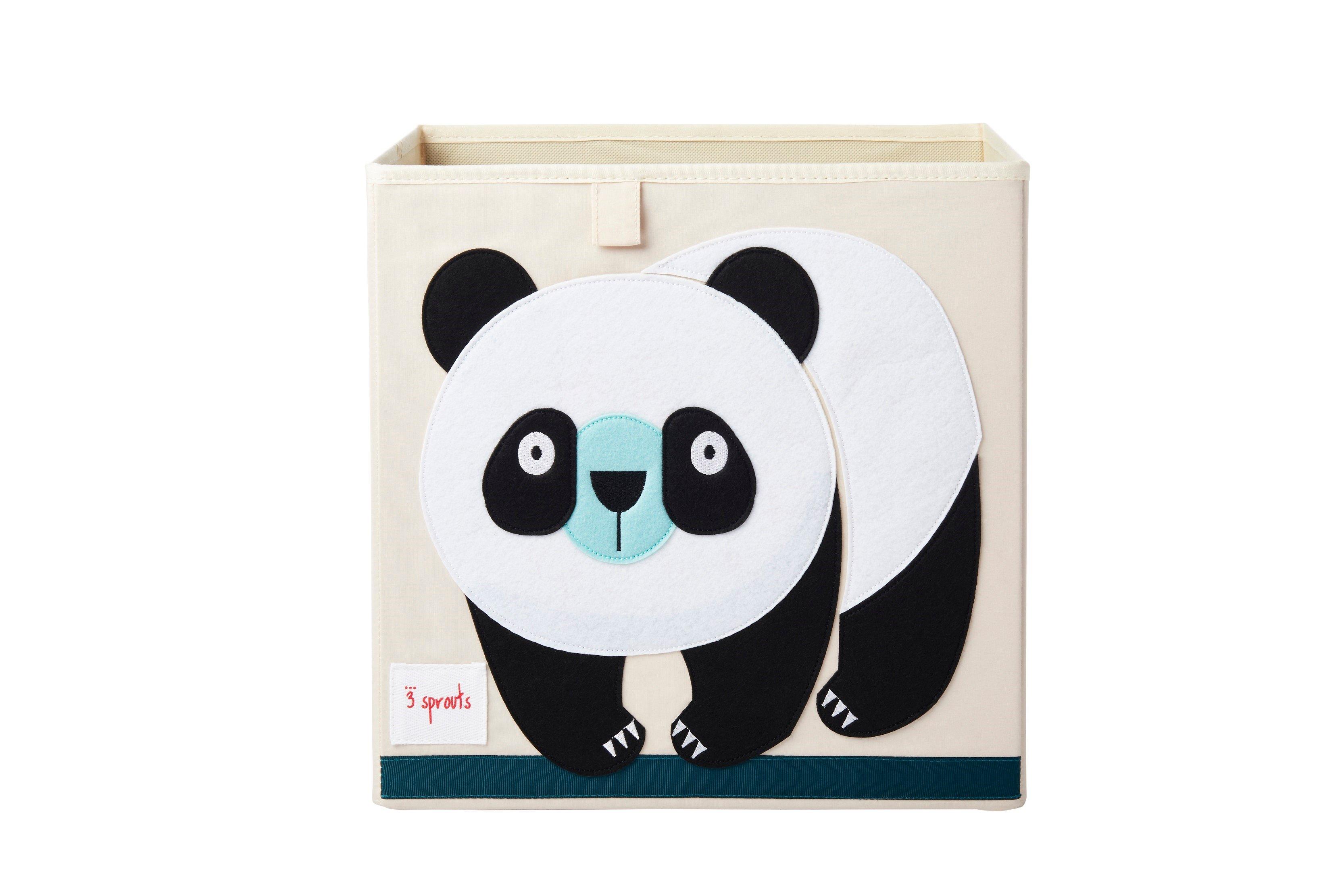 3 Sprouts - Storage Box - Black & White Panda