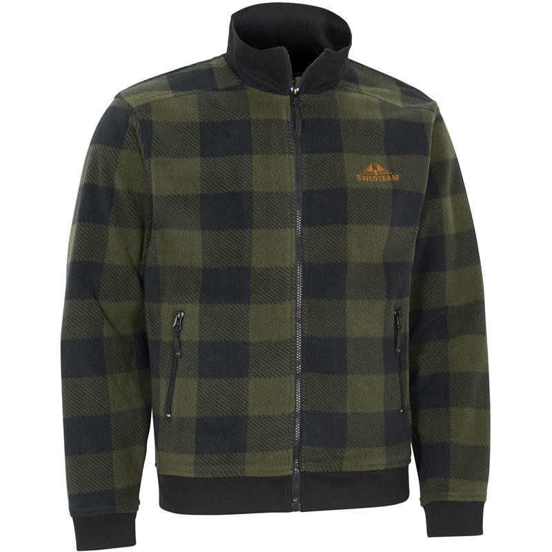 Swedteam Lynx Sweater Full-Zip XL Klassisk fleece, Hunting Green