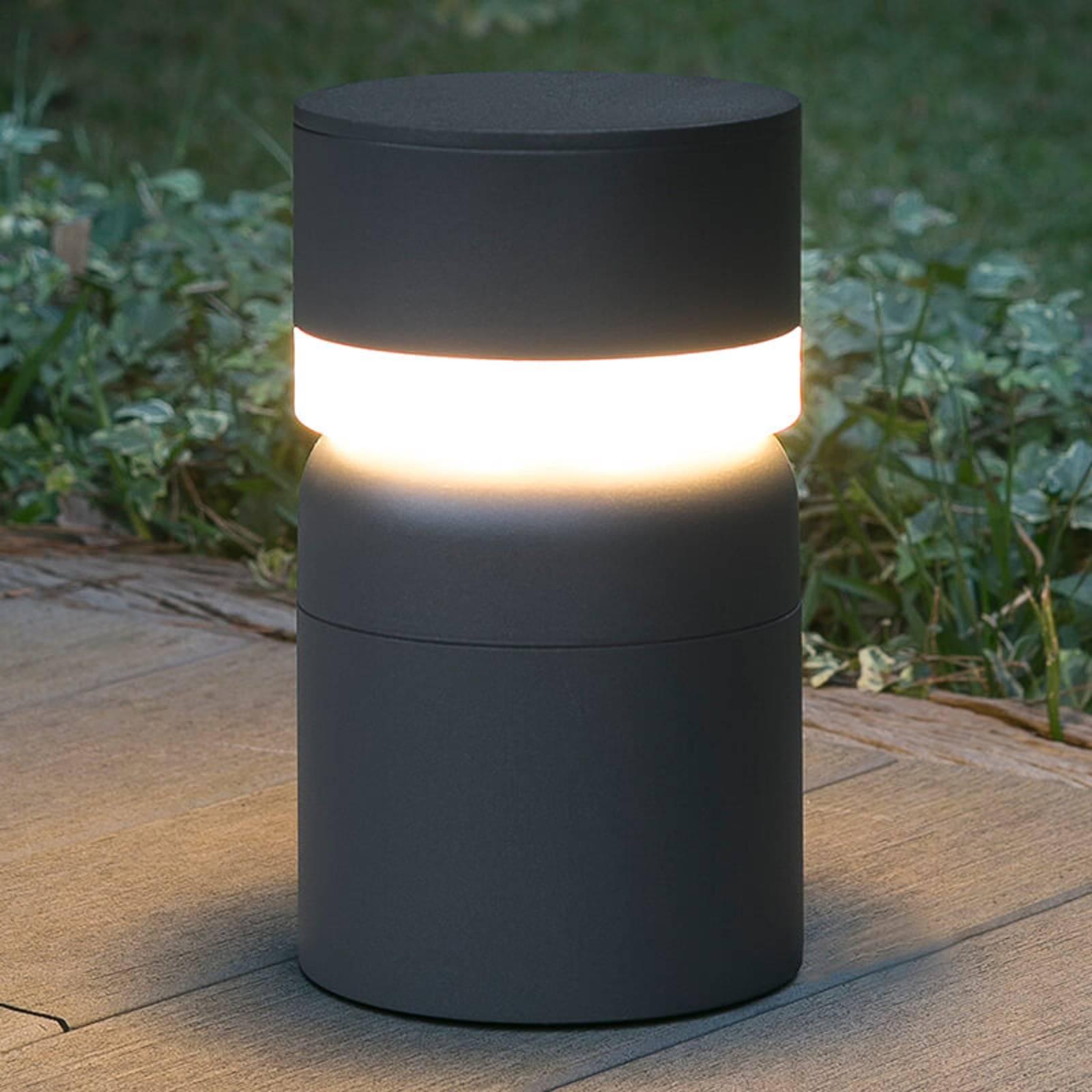 LED-pollarivalaisin Sete, tummanharmaa