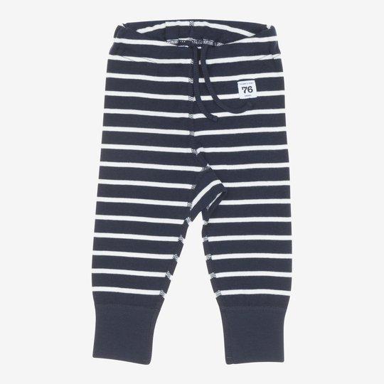 Stillongs stripet nyfødt mørkblå