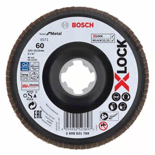 Bosch Best for Metal Lamellslipeskive med X-LOCK X571, vinklet 125 mm, G 60
