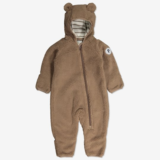Dress i pilefleece baby brun