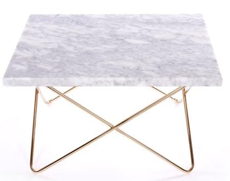 Xsmall table - white, brass frame