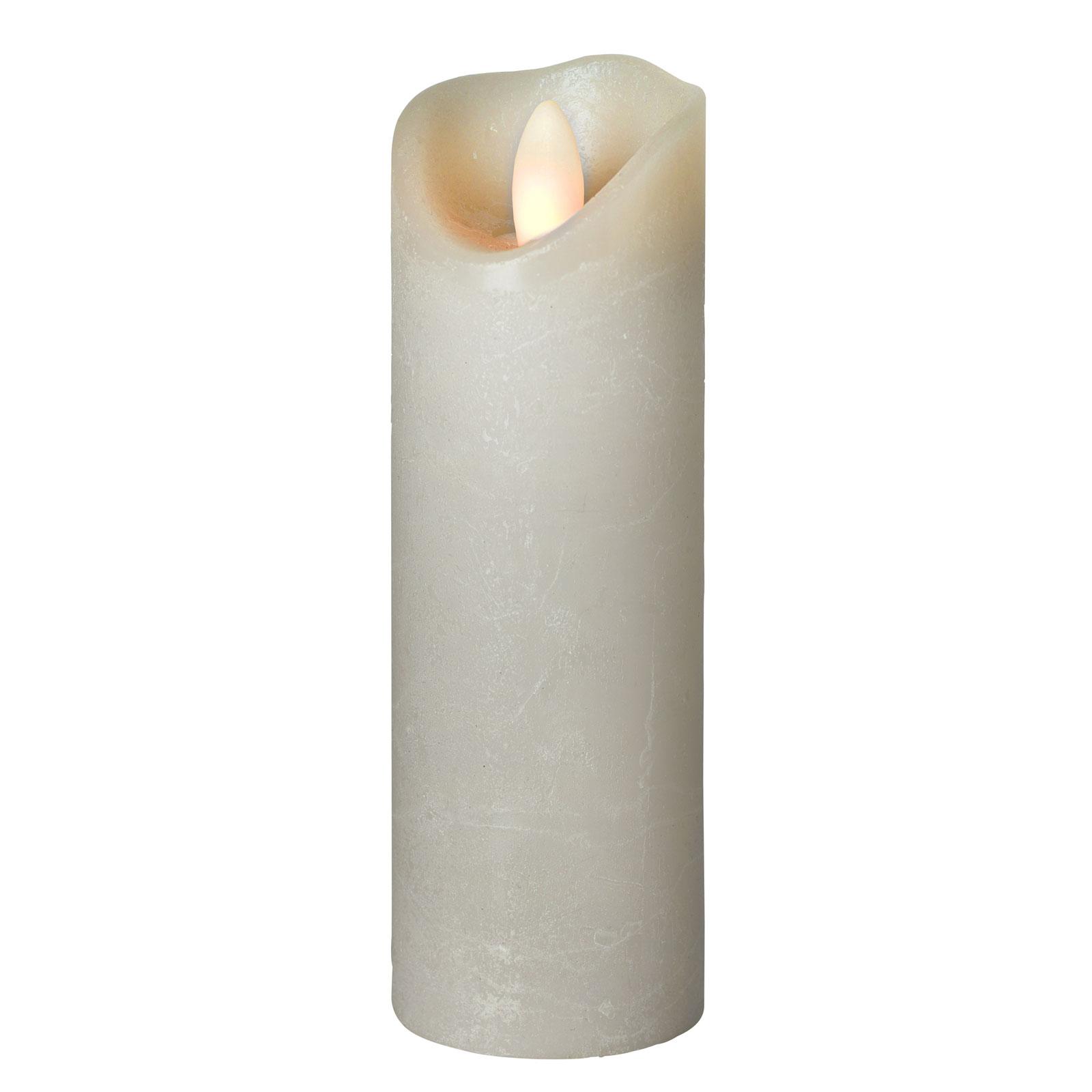 LED-kynttilä Shine, Ø 5 cm, harmaa, 17,5 cm