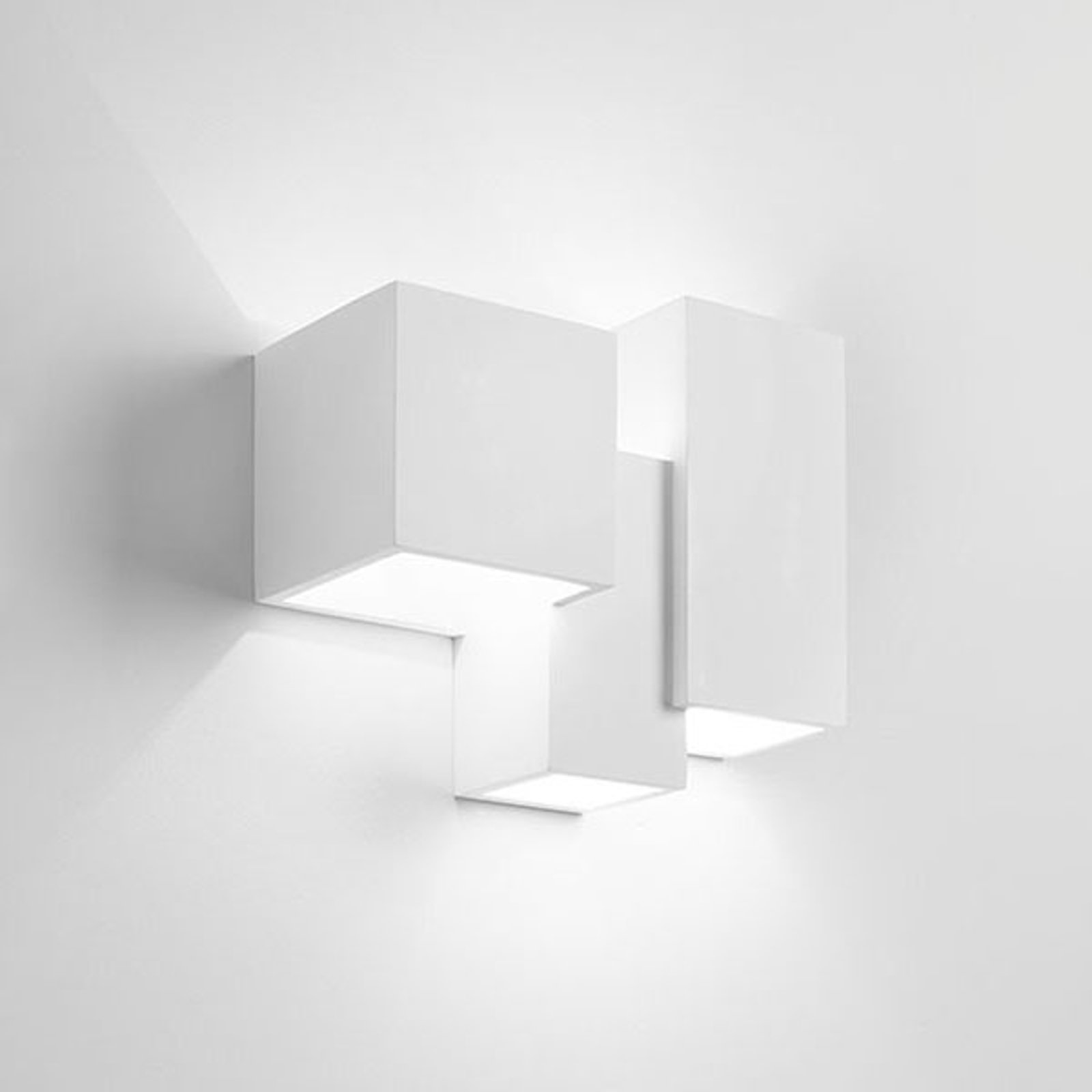 Vegglampe Heraea av gips 3 lyskilder