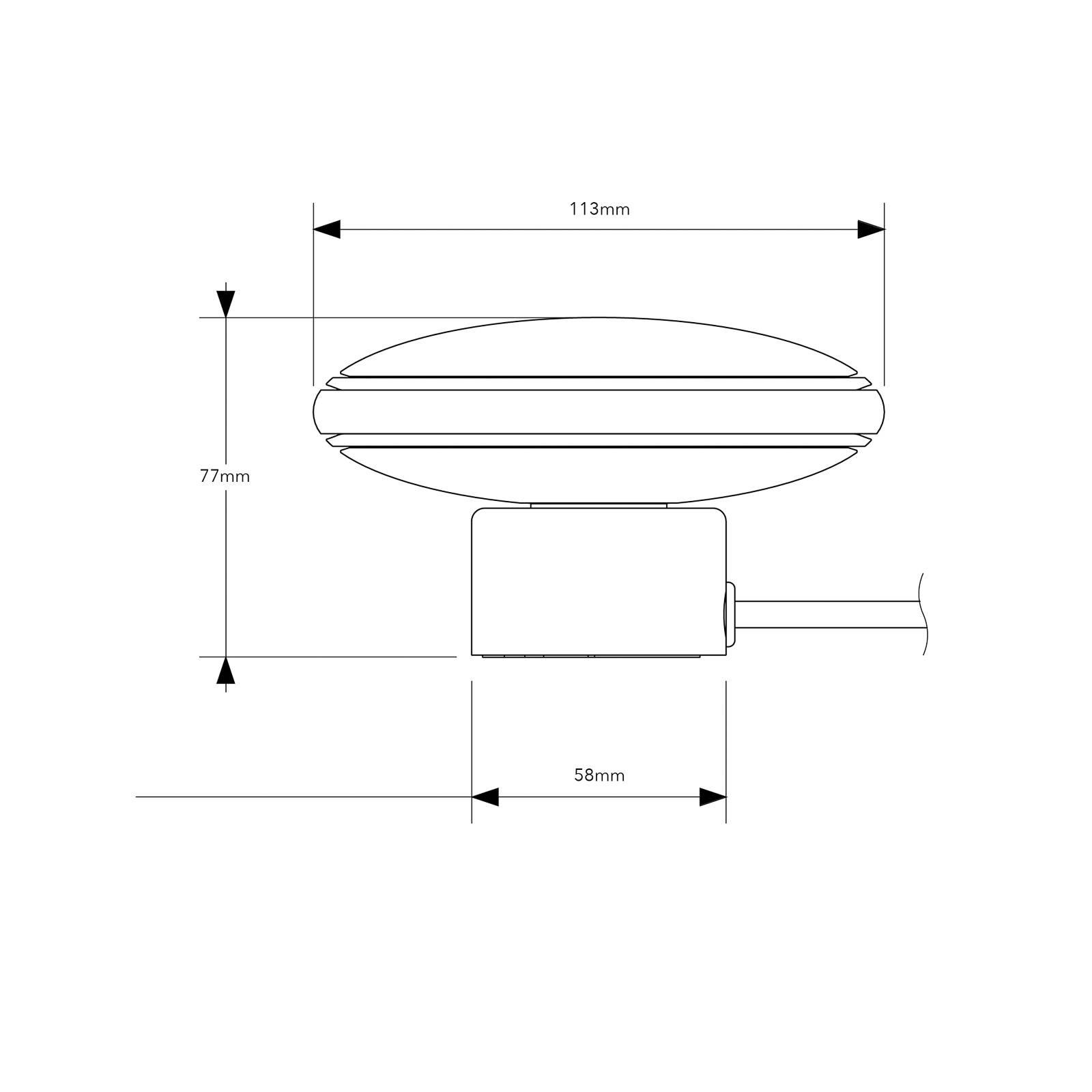 Shade ØS1 Mini -pöytä, messinki, valkoinen johto