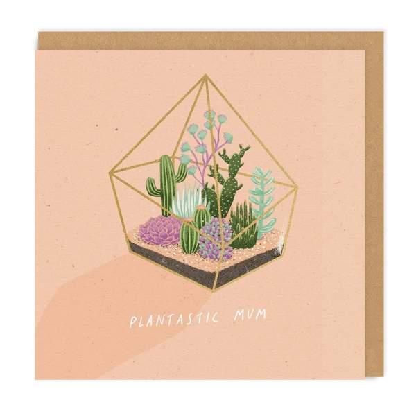 Plantastic Mum Square Greeting Card