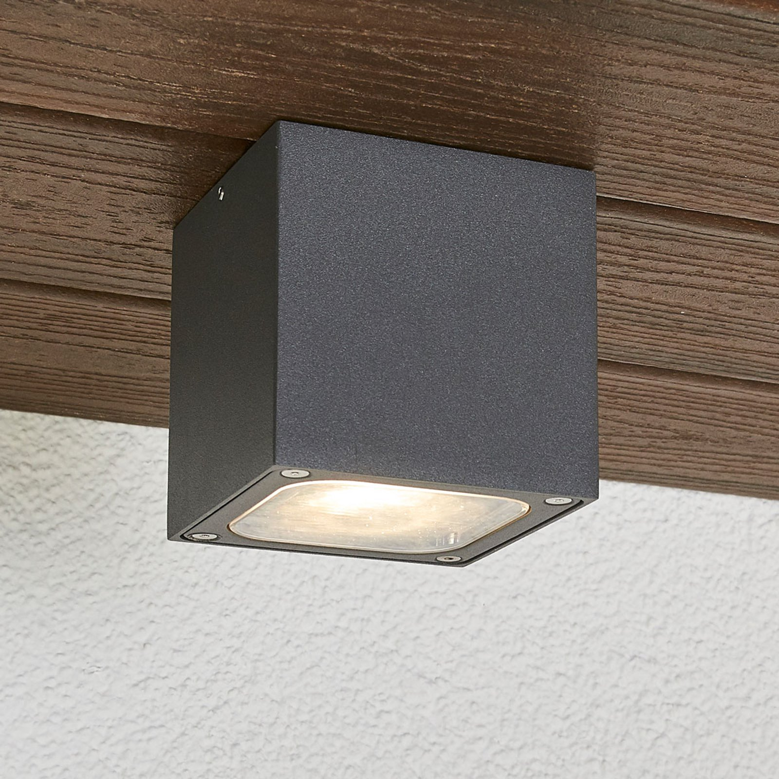 Terningformet LED-utetaklampe Tanea, IP54