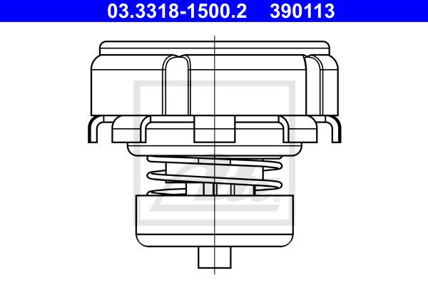 Korjaussarja, jarrupääsylinteri ATE 03.3318-1500.2
