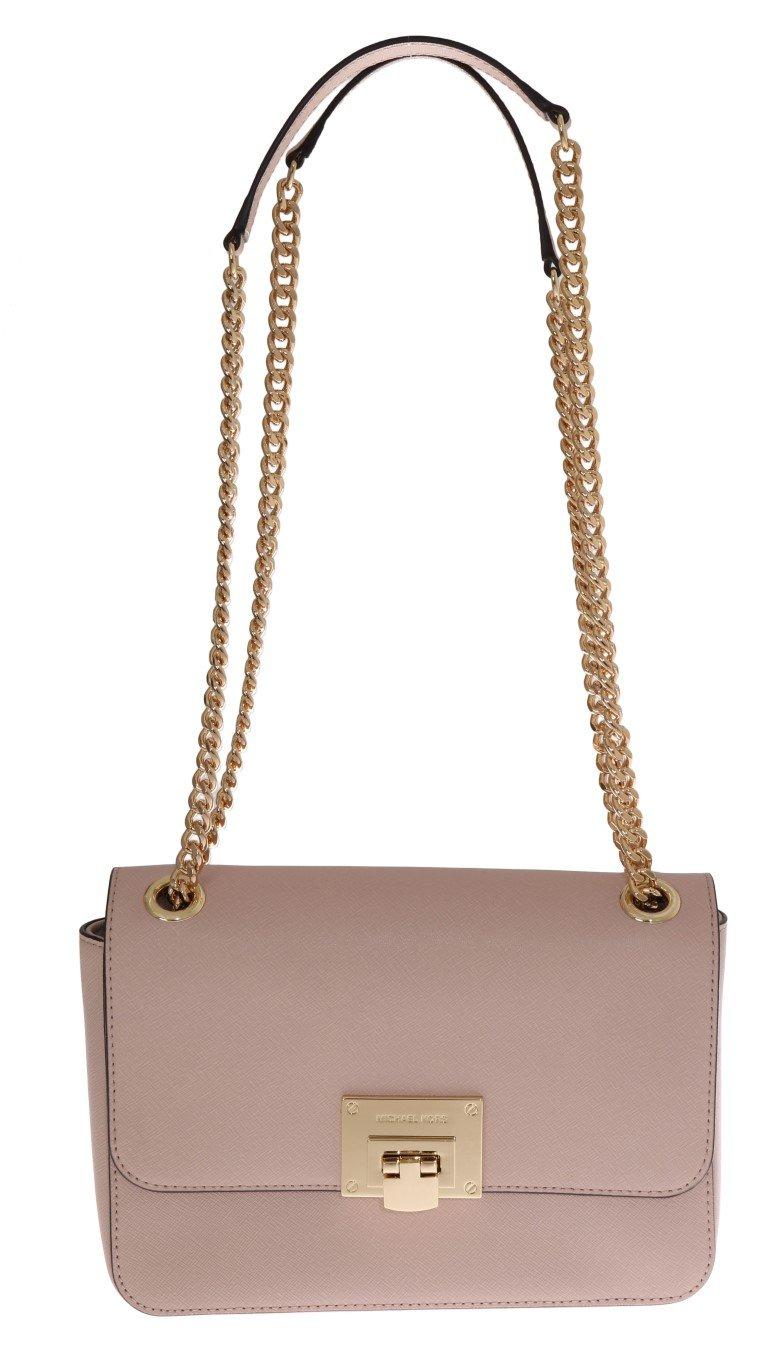 Michael Kors Women's TINA Leather Shoulder Bag Pink MK5018