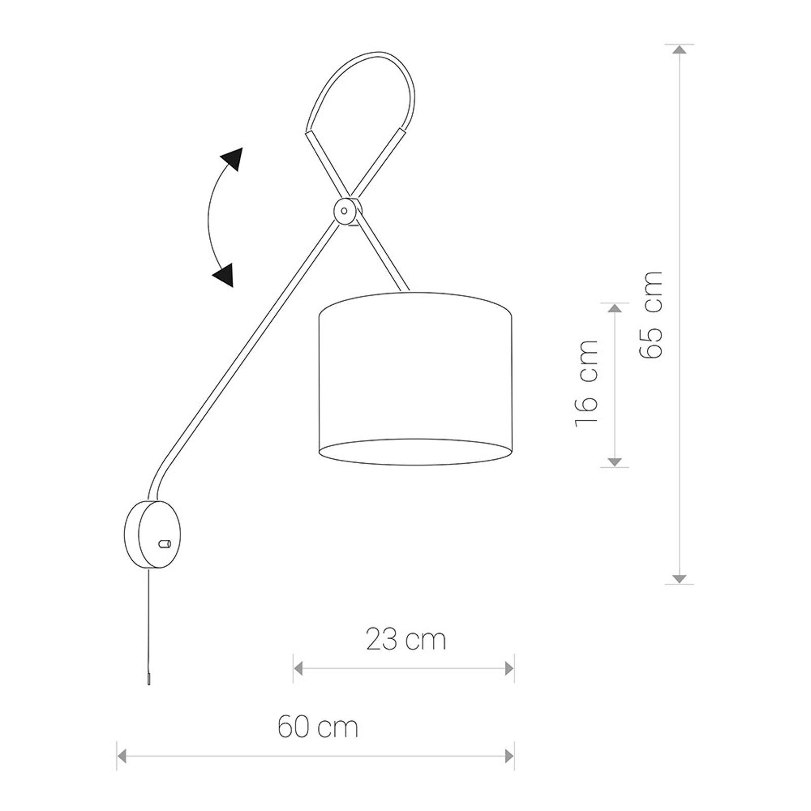 Vegglampe Viper med fleksibel stamme, svart