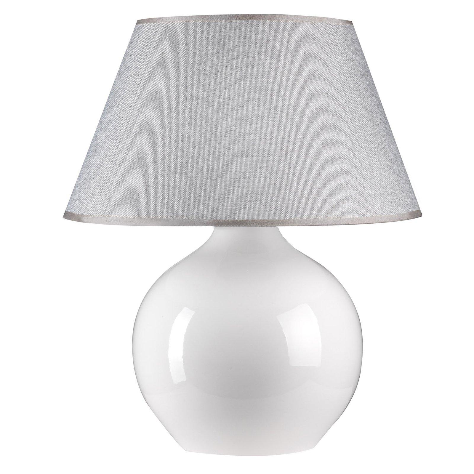 Bordlampe Sfera, 53 cm høyde, hvit/grå