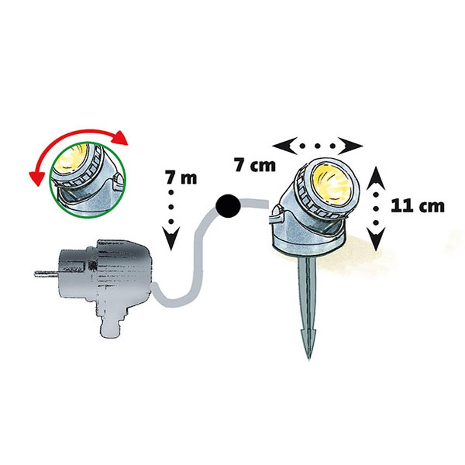 HEISSNER -LED-suihkulähde- ja puutarhavalo