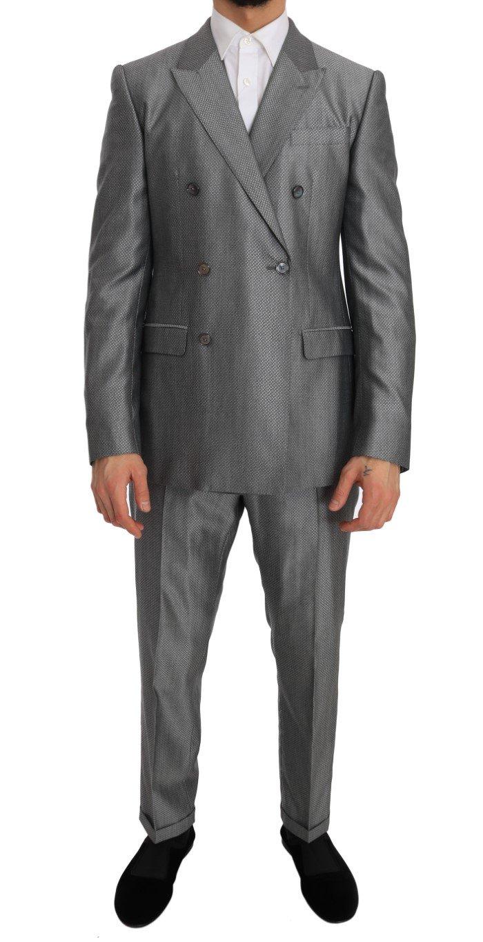 Dolce & Gabbana Men's Stretch Crystal Bee Slim Fit Suit Beige JKT1239 - IT48 | M