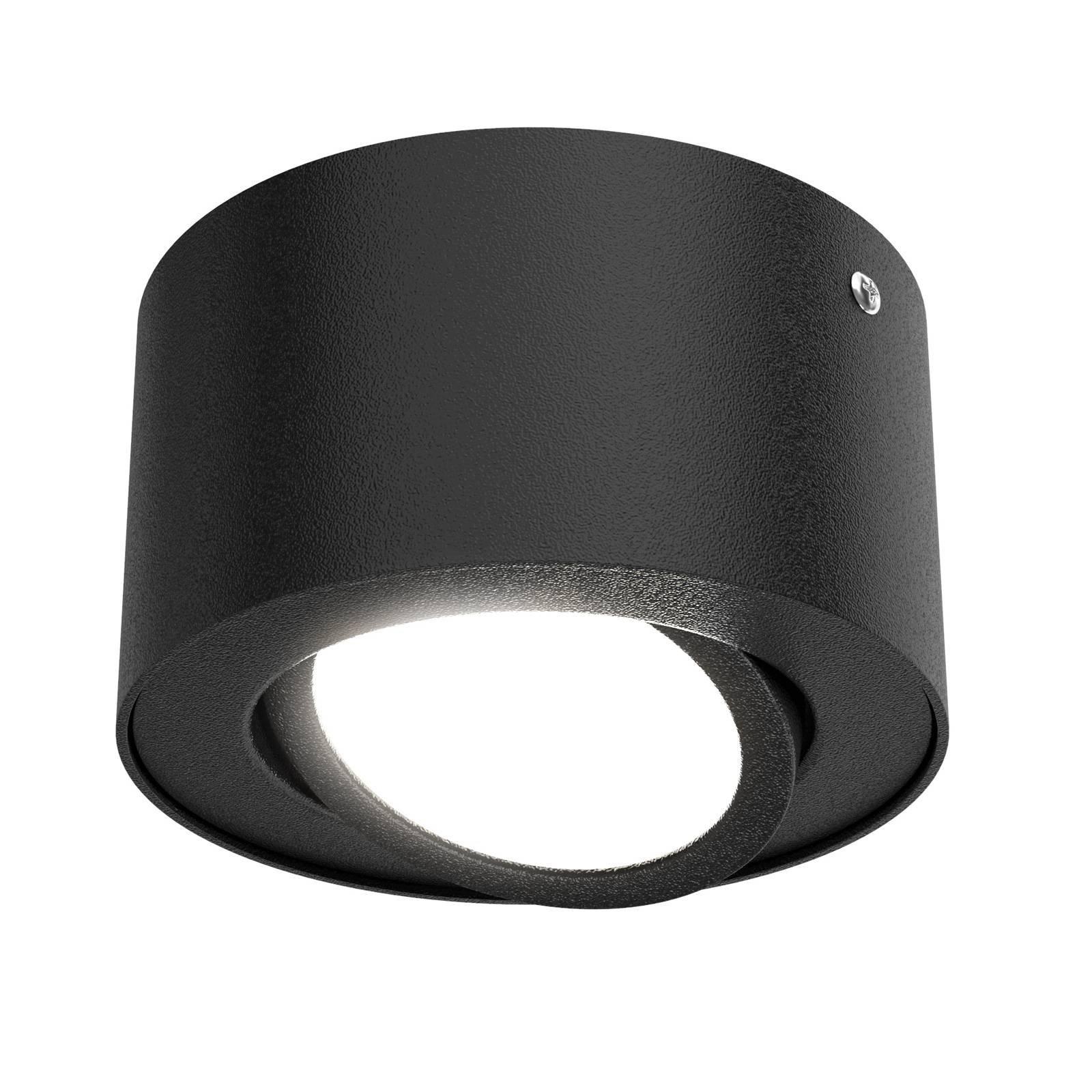 LED-takspot Tube 7121-015 i svart