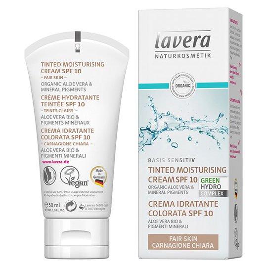 Lavera Basis Sensitiv Tinted Moisturising Cream SPF 10, 50 ml