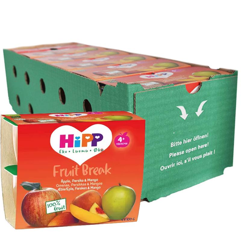 Hel Låda Barnmat Äpple, Persika & Mango 24 x 100g - 31% rabatt