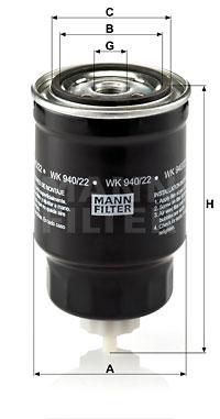 Polttoainesuodatin MANN-FILTER WK 940/22