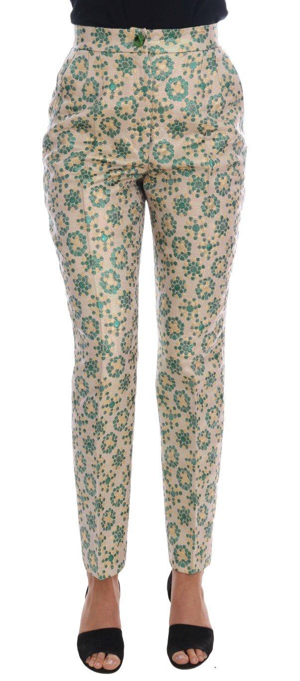 Dolce & Gabbana Women's Floral Brocade Trouser Multicolor BYX1129 - IT38   S