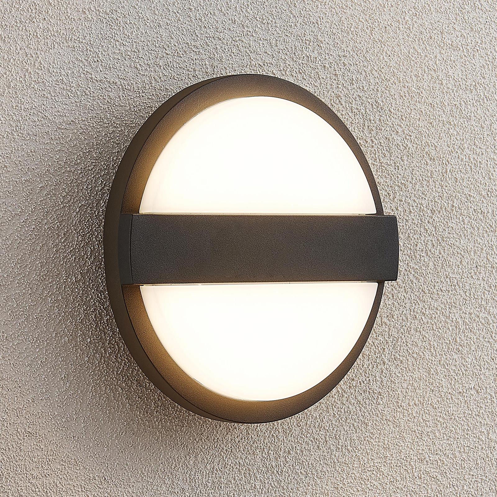 Lucande Gylfi -LED-seinälamppu, pyöreä