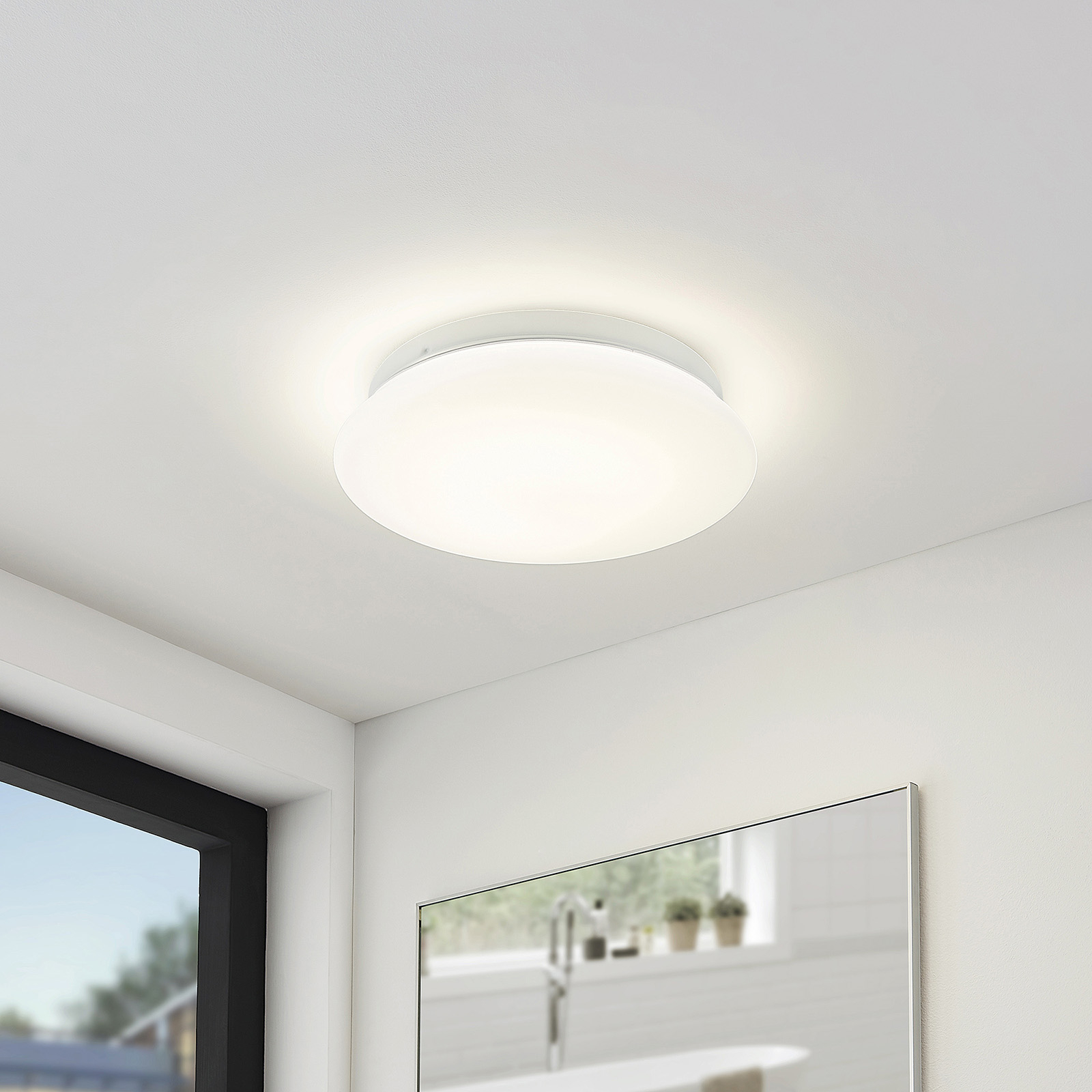 Arcchio Solomia -LED-kattovalaisin, IP44, 4 000 K