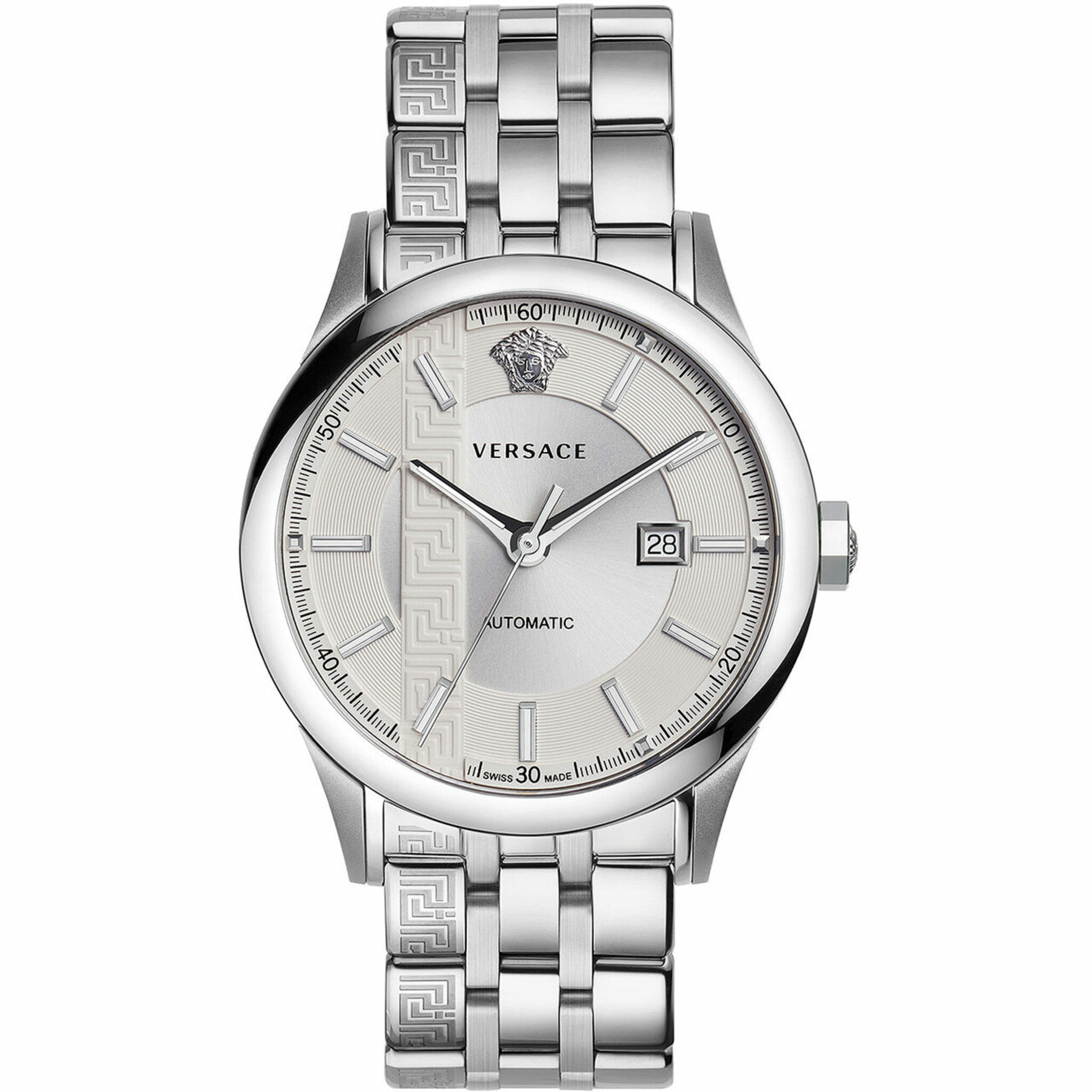 V18040017, Automatic, 44mm, 5atm, silver