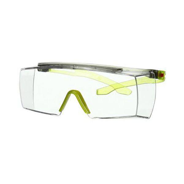 3M Secure fit 3700 Vernebriller Limegrønn brillestang, klar linse