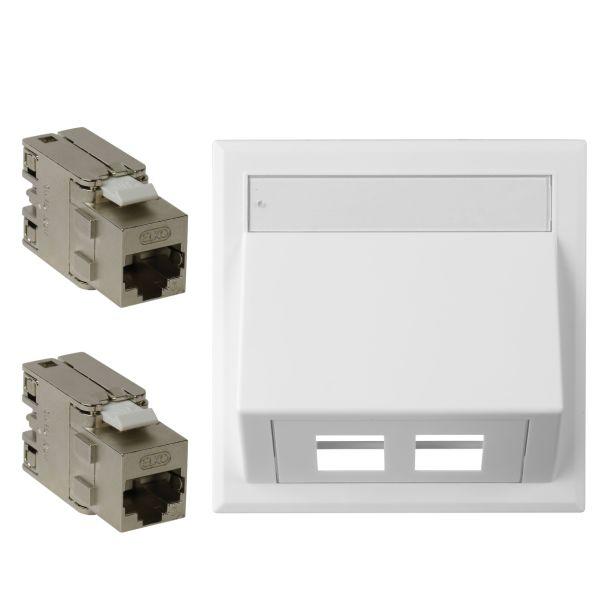 Elko CYB 2xC6A TL Modulaarinen pistorasia 2 x C6A, valkoinen