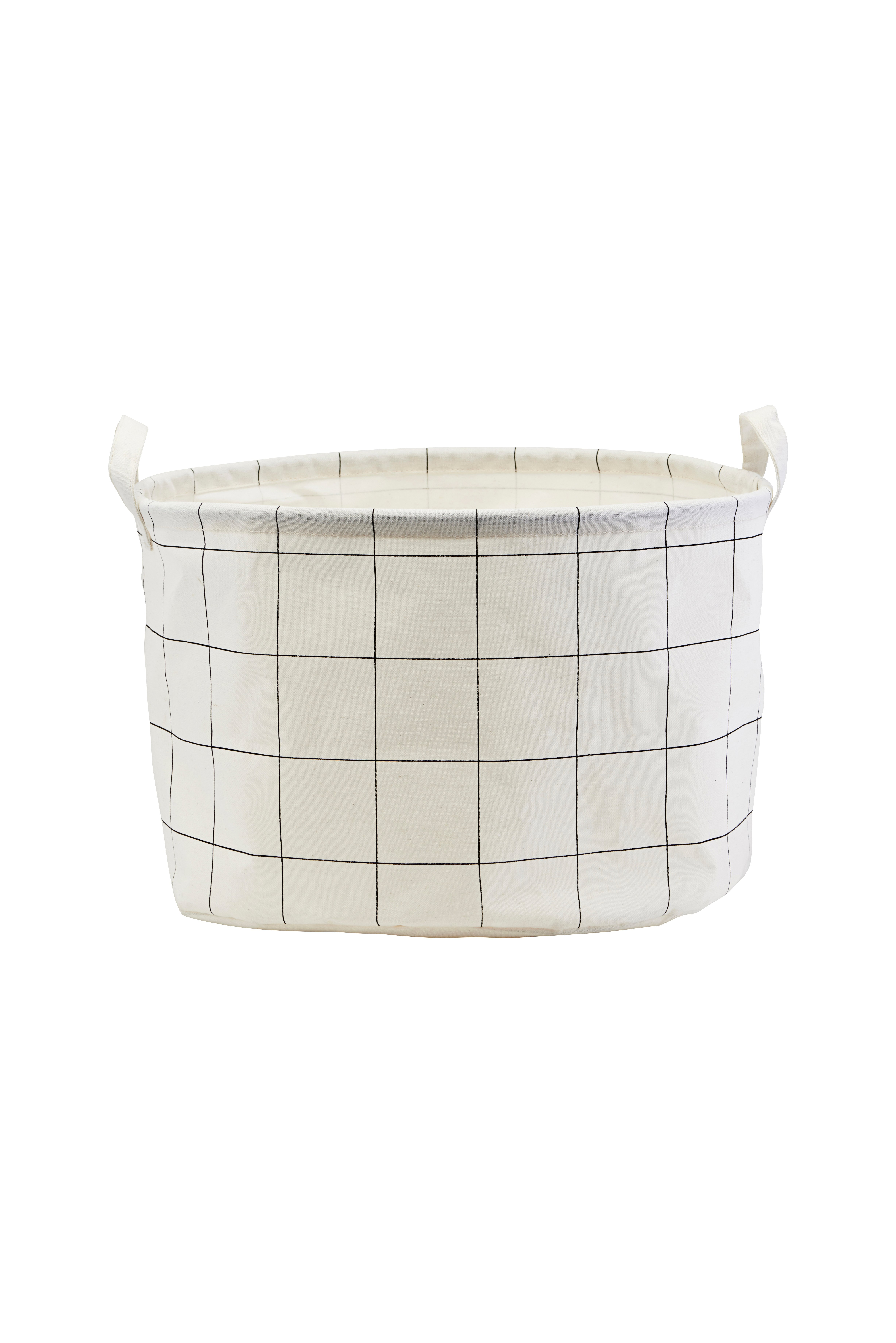 House Doctor - Storage Bag Squares Small - White (LS0440)
