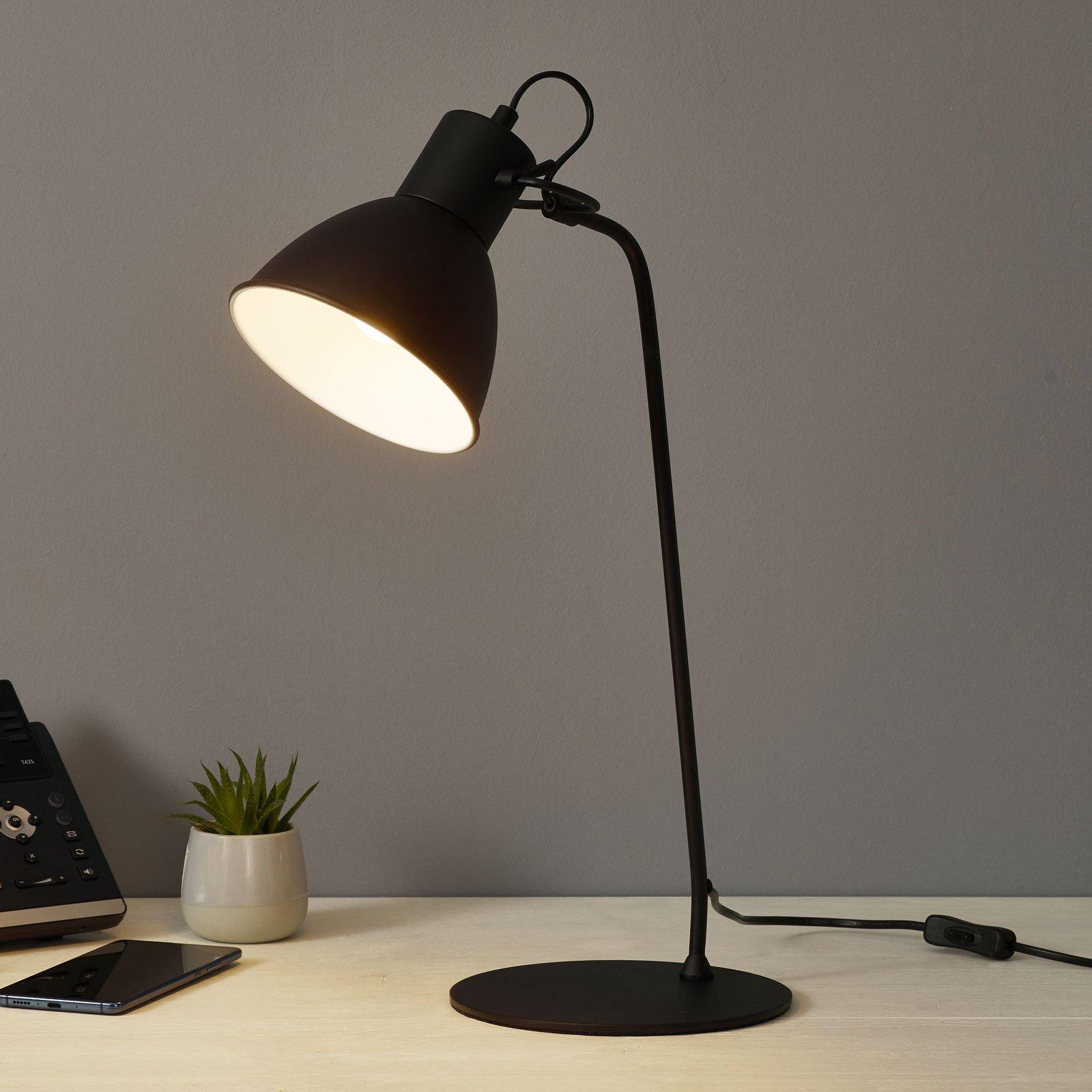 Dekorativ bordlampe Shadi i svart