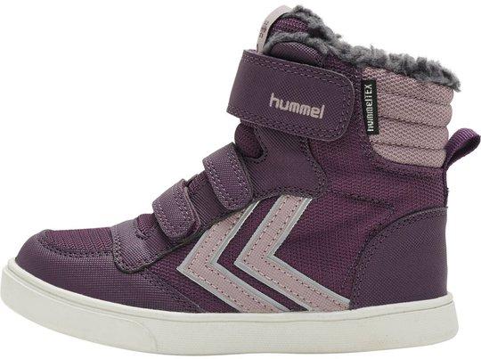 Hummel Stadil Super Poly Mid Jr Sneaker, Blackberry Wine, 28